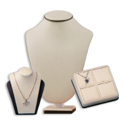 Chocolate-Beige Leatherette Displays