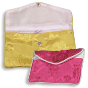 China Silk Zipper Pouches