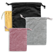 Faux Suede Drawstring Pouches